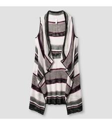 Xhilaration Girl's Striped Sweater Vest - Purple - Size: Medium