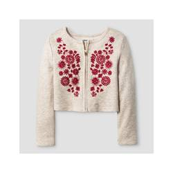 Oshkosh Girl's French Terry Bomber Jacket - Oatmeal - Size: 6X