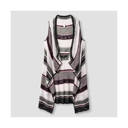 Xhilaration Women's Striped Sweater Vest - Multi - Size: Large