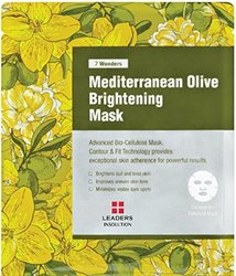 [LEADERS] 7 WONDERS Mediterranean Olive Brightening / Premium Grade Coconut Gel Mask (Bio Cellulose) / 1 BOX (10 Sheet Masks)