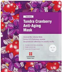 [LEADERS] 7 WONDERS Tundra Cranberry Anti-Aging / Premium Grade Coconut Gel Mask (Bio Cellulose) / 1 BOX (10 Sheet Masks)