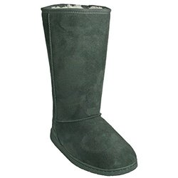 Women's 13 Inch Microfiber Boots: Grey - Size 11