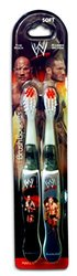 BrushBuddies 2 Pack of Kids Toothbrushes Featuring The Rock & Randy Orton