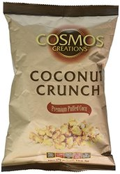 Cosmos Creations Puffed Corn Coconut Crunch - Case of 12 - 6.5 oz Bag Each