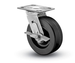"Shepherd Prism 6"" Phenolic Wheel SS Swivel Caster w/ Tread Brake"