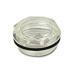 J.W. Winco EN541 Plastic Fluid Level Sight Glass - Pack of 25