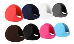 4-pack Foldable Fleece Ear Warmers: 2 Black/2 Grey