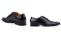 Signature Men's Wholecut Oxford Dress Shoes - Blue - Size: 9.5