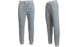 Galaxy By Harvic Men's Slim Fit Fleece Jogger Pants - Gray - Size: Medium