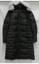 Women's Long Bubble Parka Jacket with Detachable Hood - Black - Small