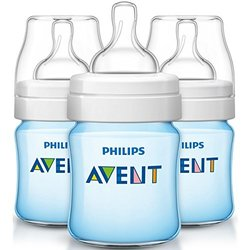 Baby Bottle Avent 4oz 3pk Clas Blu