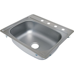 "Aspen Single Bowl Kitchen Sink Stainless Steel 4 Hole - 7"" Depth"