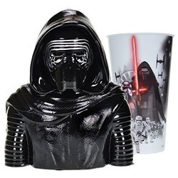 Star Wars The Force Awakens Kylo Ren Collectible Ceramic Bust Bank with Episode 7 Cup