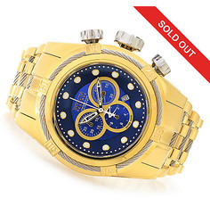 Invicta Reserve Men's Bolt Zeus Swiss Quartz Chrono Mop Dial Bracelet Watch Goldtone / Blue Men's