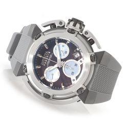 Invicta Reserve Men's X-wing Quartz Z60 Chrono Silicone Strap Watch Black Mop Men's