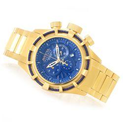Invicta Men's Reserve 50mm Bolt Quartz Bracelet Watch - Goldtone/Blue