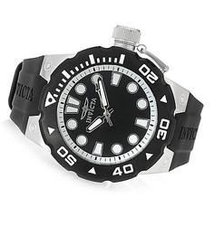 """Men's Pro Diver """"Master Of The Ocean"""" Quartz Watch -Black/Black - Sz: 51mm"""