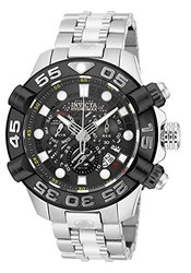 Invicta Men's Hydromax Swiss Made Quartz Chrono Stainless Bracelet Watch Silvertone Men's