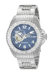 Invicta Pro Diver Automatic Open Heart Stainless Bracelet Watch Blue Men's