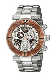 Invicta Reserve Men's Subaqua Specialty Swiss Made Quartz Chrono Bracelet Watch Silvertone Men's