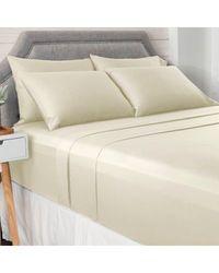 North Shore Living 950tc 100% Egyptian Cotton Suresoft 6 Piece Sheet Set Ivory Full