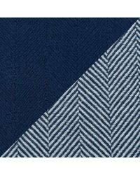 North Shore Linens 100% Egyptian Cotton Chevron Jumbo 2tone Throw W/ Solid Throw Navy No Size
