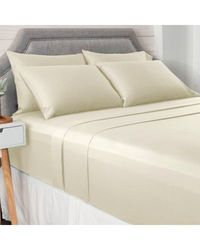 North Shore Living 950tc 100% Egyptian Cotton Suresoft 6 Piece Sheet Set Ivory Queen