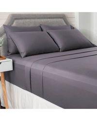 North Shore Living 950tc 100% Egyptian Cotton Suresoft 6 Piece Sheet Set Charcoal King