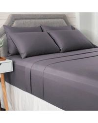 North Shore Living 950tc 100% Egyptian Cotton Suresoft 6 Piece Sheet Set Charcoal Full