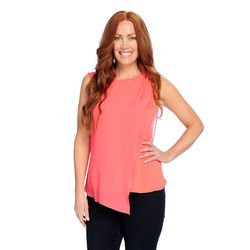 Kate & Mallory Women's Sleeveless Knit Tank - Coral - Size: Xs