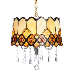 Tiffany Style Touch Of Elegance Hanging Lamp Multi No Size