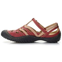 "Jbu By Jambu ""anza"" Memory Foam Color Blocked Comfort Sandal Red 11 Wide"