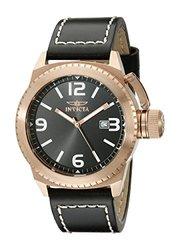Invicta 46mm Specialty Quartz Date Leather Strap Watch Rosetone 46mm