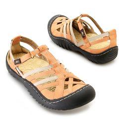"Jbu By Jambu ""anza"" Memory Foam Color Blocked Comfort Sandal Citrus 8.5"