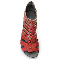 Jbu By Jambu Jean Snake Print Gladiator Wedge Sandal Red 8