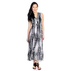 Kate & Mallory High Low Maxi Dress - Black/white - Size: Small