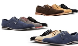 Royal Men's Casual Shoes: Wing-tip-blue/10