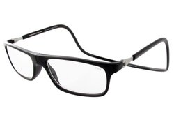 CliC +3.00 Executive Reading Glasses with Magnetic Front Connect - Black