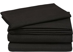 Cotton Queen Duvet-Cover-Set Black - Premium Quality Combed Cotton Long Staple Fiber - Breathable, Cozy & Comfortable - Hotel Quality Exceptionally Durable - by Utopia Bedding (Queen, Black)