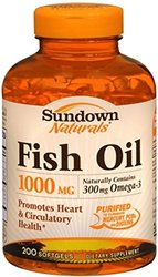 Sundown Naturals Fish Oil, 1000 Mg, 200 Softgels (pack Of 2)