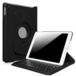 Fintie iPad Air 2 Keyboard Case - 360 Degree Rotating Stand Cover with Built-in Wireless Bluetooth Keyboard for Apple iPad Air 2 (iPad 6) 2014 Model, Black