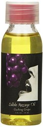 Earthly Body Flavored Edible Massage Oil Grape 1 oz