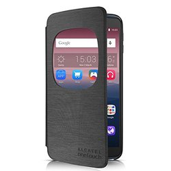 """Alcatel Cell Phone Cradle for 5.5"""" ALCATEL ONETOUCH IDOL 3 - Retail Packaging - Dark Grey"""