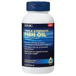 GNC Triple Strength Fish Oil Dietary Supplememt, 1000mg, 60 softgels