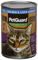 PetGuard Fish, Chicken & Liver Dinner for Cats