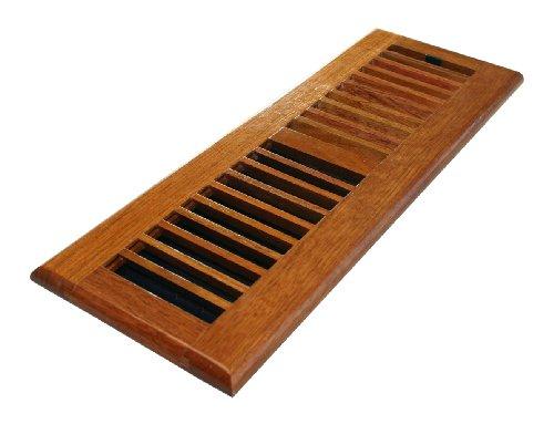 Decor grates cherry wood floor register damper box 4 x for Wood floor registers 6 x 14