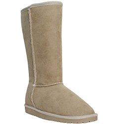 Women's 13'' Microfiber Boot: Beige/7