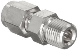 "Parker 316 Stainless Steel Tube Fitting NPT Male - 3/4"" x 1"""