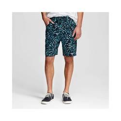 Mossimo Men's Knit Shorts Leaf Print - Navy - Size: Medium