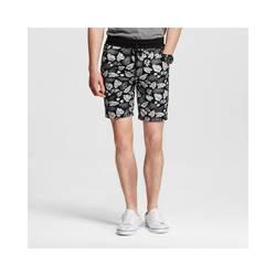 Mossimo Men's Knit Shorts Leaf Print - Black & White - Size: XL